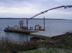 Dock construction along the St. Lawrence River